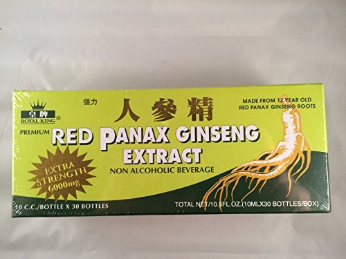 Royal King - Red Panax Ginseng Extract 6000mg (30 Vials X 10ml) - 2 Boxes