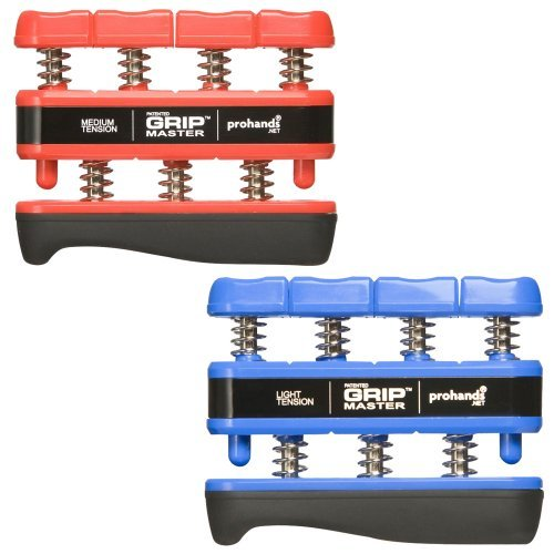 Gripmaster 2-Pack Blue (Light Tension) And Red (Medium Tension) by Gripmaster