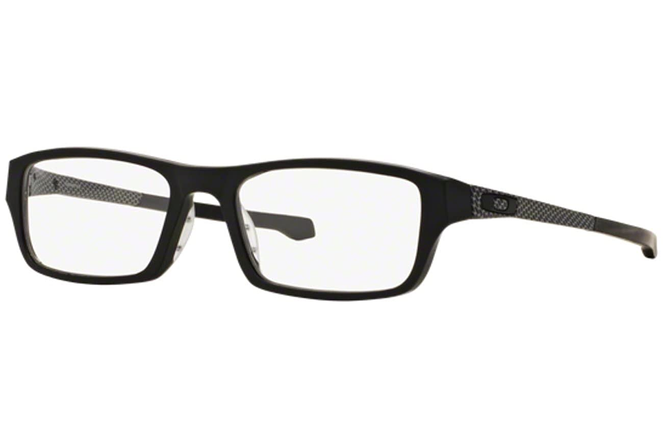 a2e743d55ec Oakley Chamfer OX8039 Eyeglasses -13 Satin Black -51mm at Amazon Men s  Clothing store