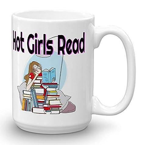 Amazon.com: Caliente muchachas de leer. Divertido 15 oz taza ...