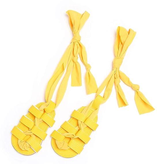 188f1eca2 SamMoSon Ropa para bebés niño Primeros Zapatos para niñas Bebé Recién Nacido  Vendaje Corbata única Niña Bebé Infantil Fader Ye   12  Amazon.es  Ropa y  ...