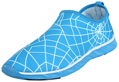 Z-joyee Herren Barfuß Schnell Trocknende Aqua Wasserschuhe Spinnenblau