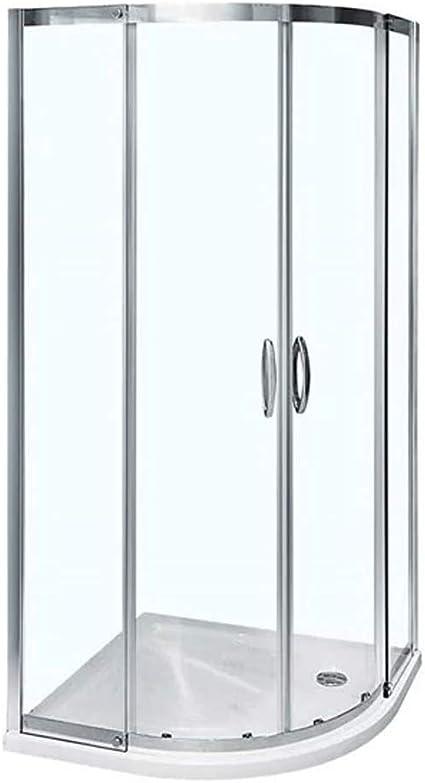 Mampara de ducha cabina de Walk In para puerta corredera 8 mm esquinera con 800 x 800 (reversible* Tamaño ajustable *) limpiar o cama de matrimonio entrada diseño de fácil acceso: Amazon.es: