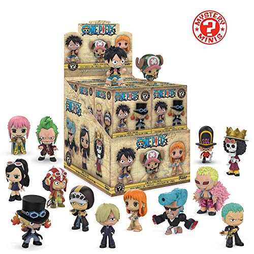 Funko Mystery Minis: One Piece Anime - Store Display Box of 12 Sealed Mystery Collectible Figures