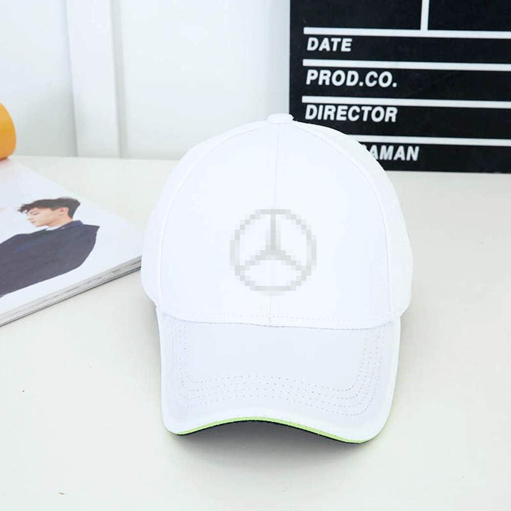 Car Logo Cotton Baseball Hat for Mercedes Benz W204 W205 W212 W213 W222 W221 GLC Unisex Hat Travel Cap Car Racing Motor Hat Cap Outdoor Travel Sport Hat Black Logo