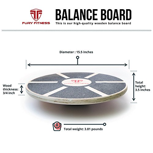 Balance Board Exercises For Surfing: Fury Fitness Balance Board For Active Men & Women, Wobble