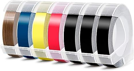 Aken - 3D Etiquetas compatible para usar en lugar de Dymo 9mm ...