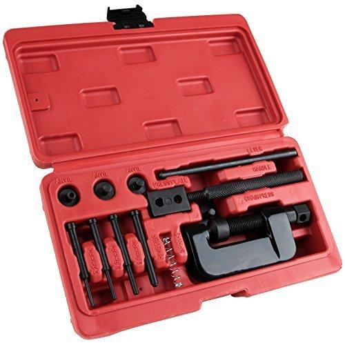 14-teiliges Kettenwerkzeug Set Nietwerkzeug Ketten Nietwerkzeug inklusive Koffer