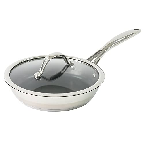 ProCook Professional Stainless Steel Induction Non-Stick Frying Pan & Lid 20cm