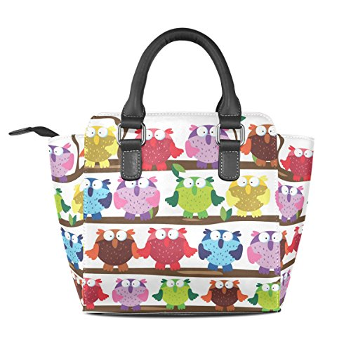 Cute Color TIZORAX Shoulder Handbags Bags Owl Leather Tote Women's OaPwqdP