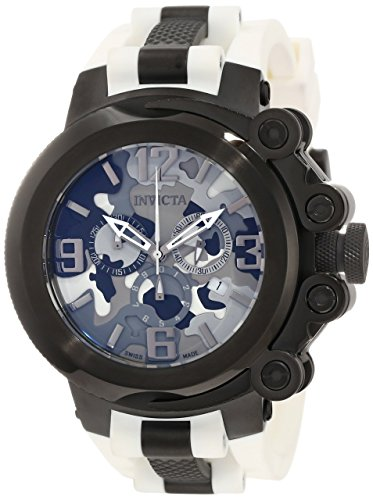 Men's 11671 Coalition Force Chronograph Grey Camouflage Dial White Polyurethane Watch