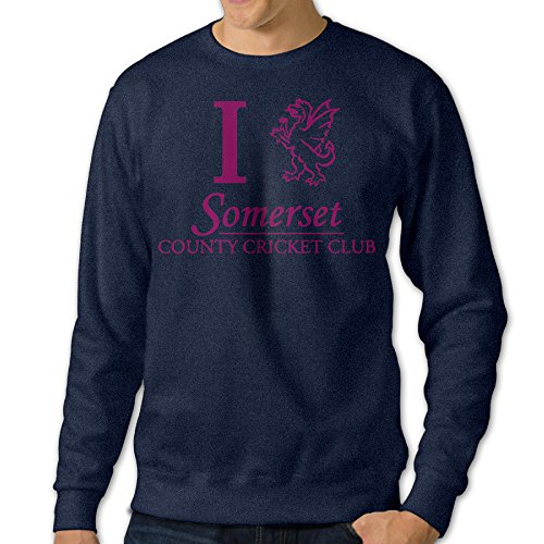 [Baboy Men's Classic Counties Cricket Somersete Sweater Size XL Navy] (Maleficent Toddler Costumes)