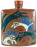 Mara Ceramic Stoneware 24 Oz. Kitties Square Decanter