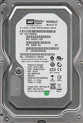 WD2500AAKX-603CA0, DCM HHRNNTJCH, Western Digital 250GB SATA 3.5 Hard (Western Digital Stock)