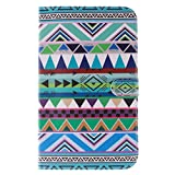 """Galaxy Tab 3 8.0"""" SM-T310 Cover ,Macoku [Art Design] Colorful Pattern Pu Leather Slim Magnetic Travel Cases Flip Wallet PU Leather [Stand Feature] Flip Protective Case Cover for Samsung Galaxy Tab 3 8.0"""" SM-T310"""