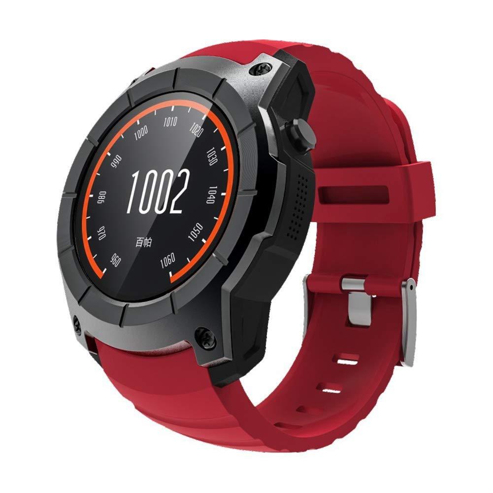 OOLIFENG Reloj Inteligente, Corriendo Relojes con GPS, Pulsómetros, Brújula, Deportes Podómetro para iOS Android,Red: Amazon.es: Deportes y aire libre