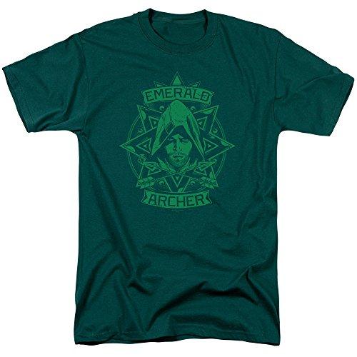 Trevco Men's Arrow (The Series) Short Sleeve T-Shirt, Hunter Green, Small