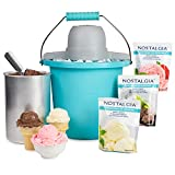 Nostalgia ICMP400BBUN Electric Ice Cream Maker, 4 quart, Blue
