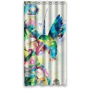 Funny Bird Shower Curtain - Funny Novetly Hummingbird Bathroom Shower Curtains Polyester Waterproof 36 Wide x 72 High
