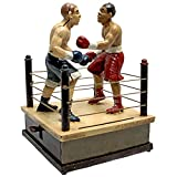 Design Toscano Battling Boxers Die Cast Iron Mechanical Coin Bank
