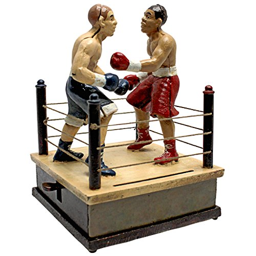 (Design Toscano Battling Boxers Die Mechanical Coin Bank)