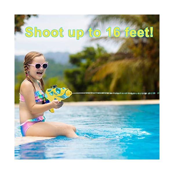 EKKONG 2 Pistole ad Acqua per Bambini,Pistola ad Acqua Giocattoli,Potente Pistola ad Acqua, Water Squirt Gun per… 3 spesavip