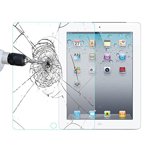 (1 Stück) iPad 2/3/4 Hartglas Displayschutz, Abestbox® iPad 2 / iPad 3/iPad 4 9H premium Panzerglas Schutzfolie (kompatibel für 3D Touch) HD 0.26mm 2.5D Schirmschutz mit runden Kanten und lebenslanger Garantie