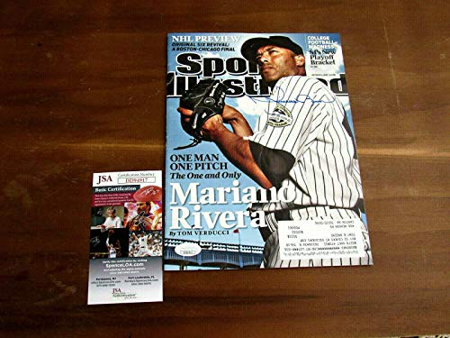 (Mariano Rivera Hof New York Yankees Signed Auto 2009 Sports Illustrated Mag - JSA Certified - Autographed MLB Magazines)