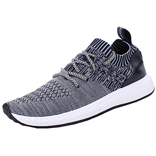 ROMENSI Men's Knit Lightweight Running Shoes Soft Sole Casual Athletic Tennis Walking Sneakers US6.5-12 – DiZiSports Store