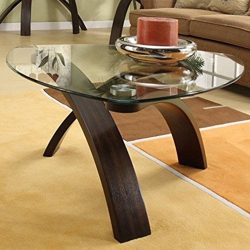 Magnussen T1396-65 Element Pie Shaped Coffee Table - Magnussen Glass Table
