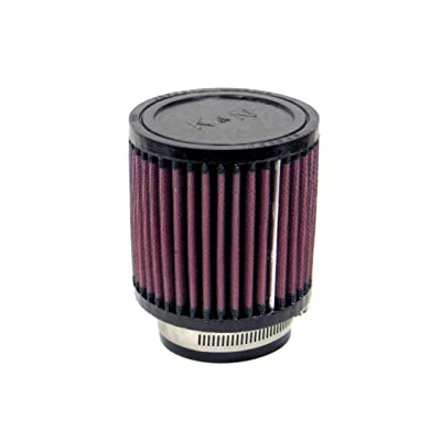 K&N Universal Clamp-On Air Filter: High Performance, Premium, Washable, Replacement Engine Filter: Flange Diameter: 2.625 In, Filter Height: 4 In, Flange Length: 1 In, Shape: Round, RB-0800: Automotive