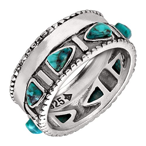 Silpada 'Trailblazer' Compressed Turquoise and Sterling Silver Ring, Size 11 Photo #5
