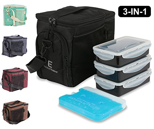 Black Patent Lunch Bag - 3