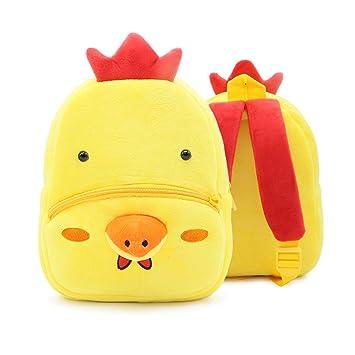 Keepart - Mochila Infantil de Peluche con diseño de Animales, para bebés y niñas,. Pasa ...