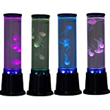 Table Lamp Jellyfish Lamp Jellyfish Tank Aquarium Color Changing Mood Lighting, Night Light Gifts For Men Women Kids (Blue-BIG)