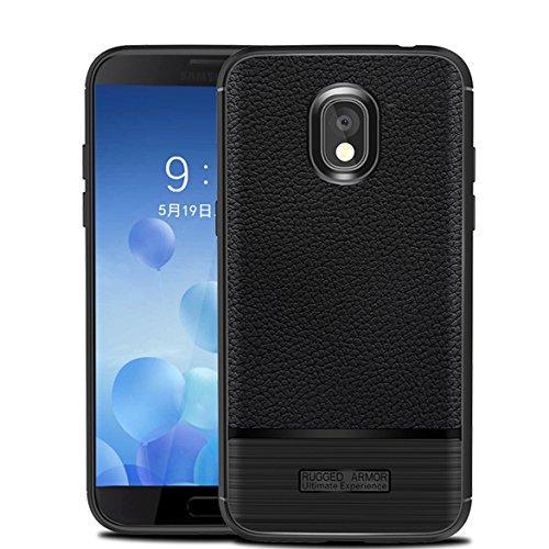 Case for Samsung Galaxy J3 2018, Galaxy J3 Star, J3 Achieve, Galaxy Express/Amp Prime 3, Galaxy J3 V 3rd Gen/J3 Orbit/J3 Aura/Sol 3, Wellci Flexible TPU Soft Skin Silicone Cover (Black)