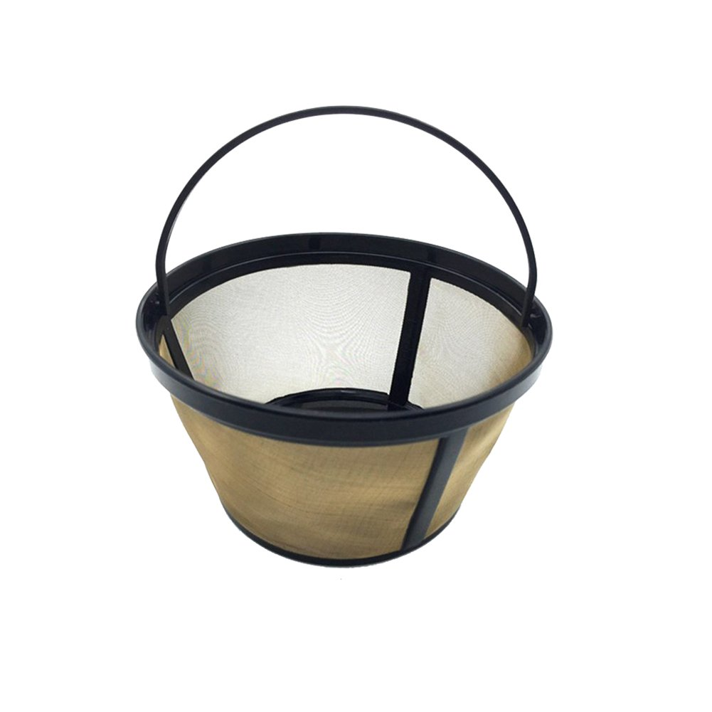 Luerme Stainless Steel Coffee Filter Replacement Coffee Strainer Filter Net #4 Permanent Coffee Filter for Coffee Makers and Brewers Washable & Reusable (Basket Shape)