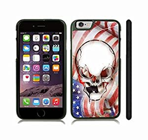 iStar Cases? iPhone 6 Plus Case with American Skull Anger Emotion Graphic Design , Snap-on Cover, Hard Carrying Case (Black)