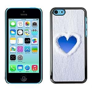 LASTONE PHONE CASE / Carcasa Funda Prima Delgada SLIM Casa Carcasa Funda Case Bandera Cover Armor Shell para Apple Iphone 5C / Cool Heart Sky Snow Clouds Love