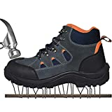 JACKSHIBO Mens Womens Work Safety Shoes, Breathable Outdoor Steel Toe Footwear Industrial Construction Shoes,Hiking Shoes ,Black1 43
