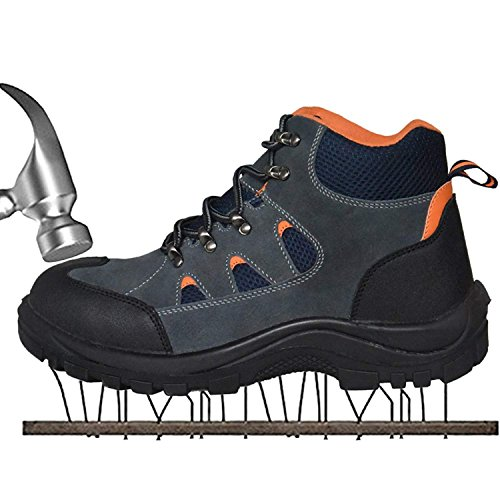 s Work Safety Shoes, Breathable Outdoor Steel Toe Footwear Industrial and Construction Shoes,Hiking Shoes ,Black1 40 (Industrial Slide)