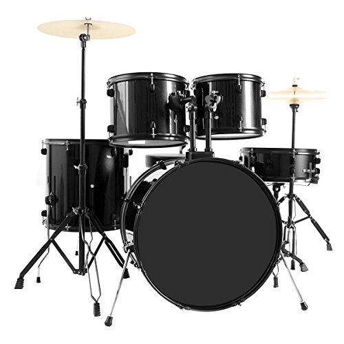 new-5-piece-full-size-complete-adult-drum-set-cymbal-throne-black-the-stands-for-snare-drum-hi-hat-a