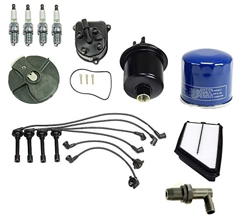 Ignition Tune Up Kit Filters Cap Rotor Spark Plugs Wire Honda Prelude 1997-2001 2.2L