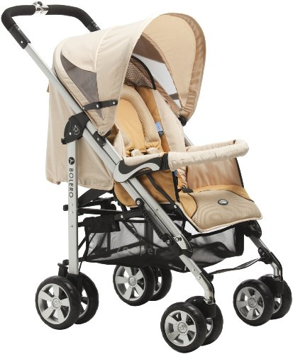 Zooper 2011 Bolero Stroller/Bassinet, Flax Brown (Discontinued by (Zooper Single)