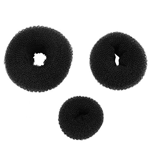 3PCS Hair Accessories,Donuts Dish Hair Headwear Disk Donut Bun Maker Hair Bun Maker Ring Style Hairdressing Tools by Semme