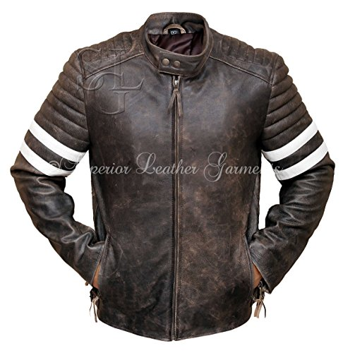 Vintage Mens Club Biker Jacket Fight wwrqdB