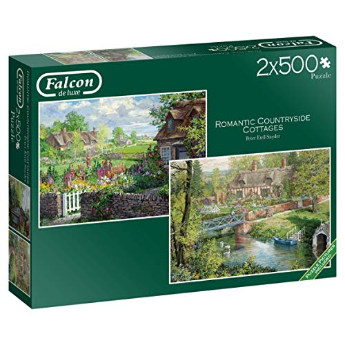 Falcon Deluxe Romantic Countryside Cottages Jigsaw Puzzle (2 x 500 ()