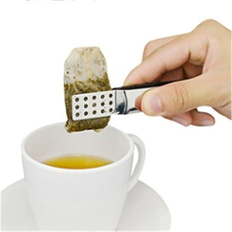 Pinzas de acero inoxidable para bolsas de té, pinzas para ...