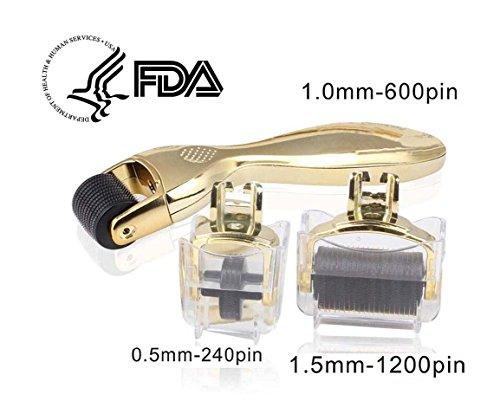1 Mm Roller (Topcare Prime Deals 3in1 Women Facial Body Skin Massage Roller Tool Golden Black)