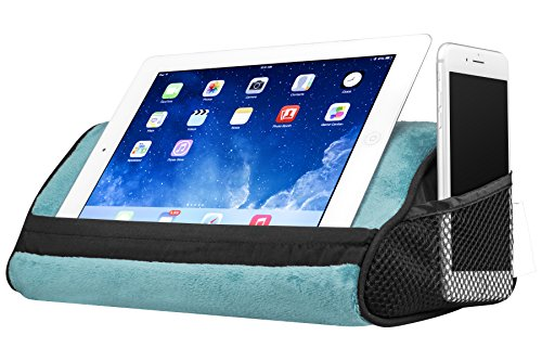 LapGear Travel Tablet Pillow, Tablet Stand - Aqua (Fits up to  10.5 Tablet)